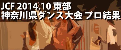 JCF 2014.10 東部 神奈川県ダンス大会 プロ結果