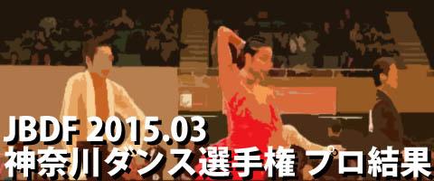 JBDF 2015.03 神奈川ダンス選手権 プロ結果