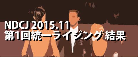 NDCJ 2015.11 第1回統一全日本ライジングスターダンス競技大会 プロ結果